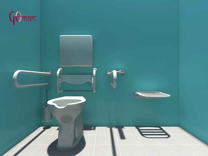 Planung dwg von behindertengerechten badezimmern 3d zeichnungen