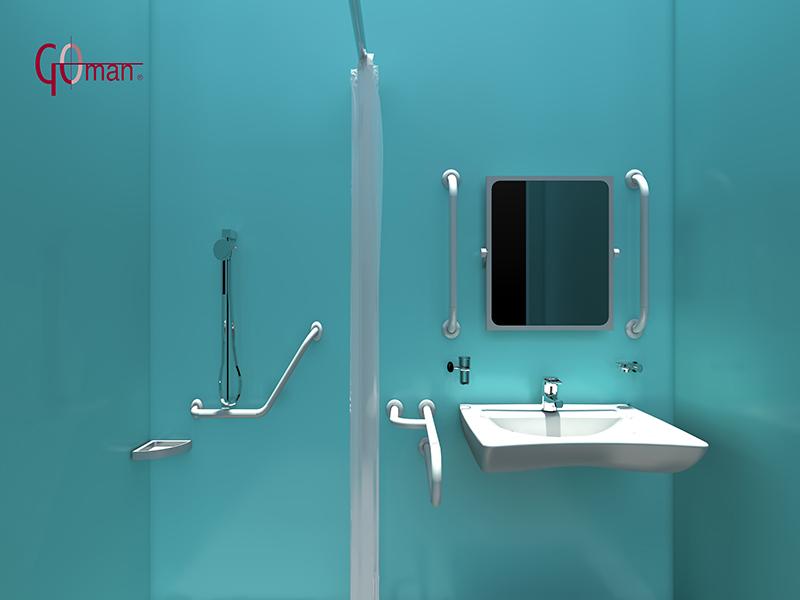 Planung dwg von behindertengerechten badezimmern d zeichnungen