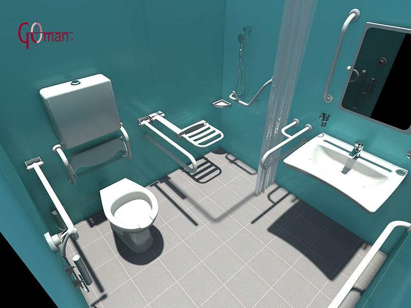 planung dwg von behindertengerechten badezimmern 3d zeichnungen. Black Bedroom Furniture Sets. Home Design Ideas